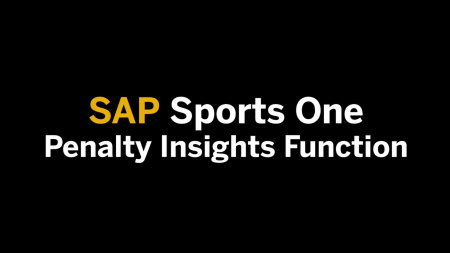 Penalty Insights Function in SAP Sports One 2016 V001