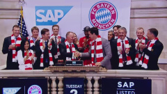 B-Roll SAP and FC Bayern at NYSE